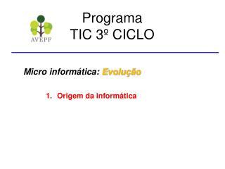 Programa TIC 3º CICLO