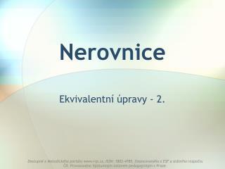 Nerovnice