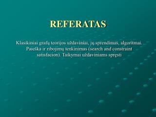 REFERATAS