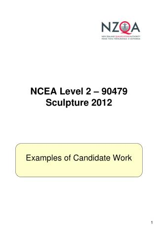 NCEA Level 2 – 90479 Sculpture 2012