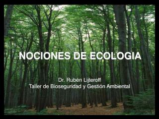 Dr. Rubén Lijteroff Taller de Bioseguridad y Gestión Ambiental