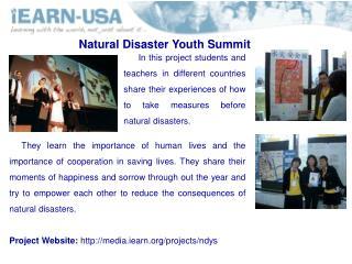 Natural Disaster Youth Summit