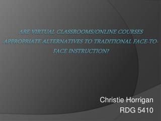 Christie Horrigan RDG 5410