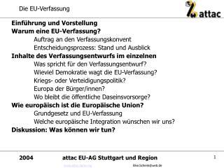 Die EU-Verfassung