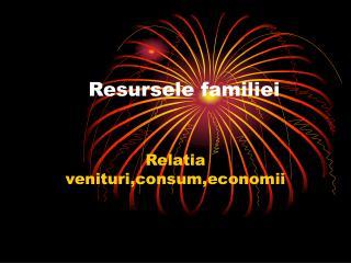 Resursele familiei