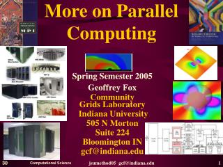 More on Parallel Computing