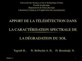 Apport de la télédétection dans la caractérisation spectrale de la dégradation du sol