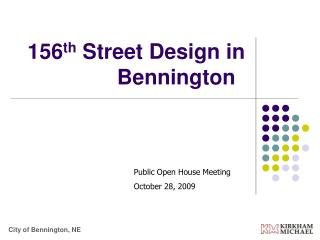 156 th  Street Design in Bennington