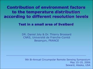 Contribution of environment factors to the temperature distribution