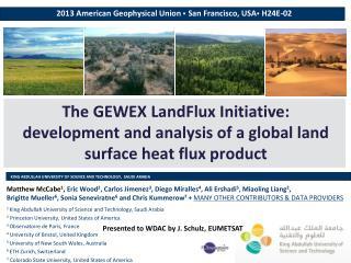 2013 American Geophysical Union   San Francisco, USA   H24E-02