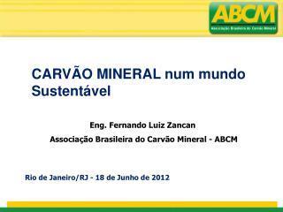 Eng. Fernando Luiz Zancan   Associação Brasileira do Carvão Mineral - ABCM