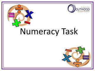 Numeracy Task