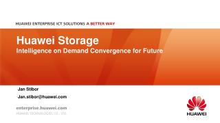 Huawei  Storage  Intelligence on Demand Convergence for Future