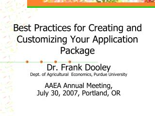 Best Practices for Creating and Customizing Your Application Package
