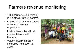 Farmers revenue monitoring