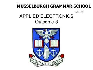 APPLIED ELECTRONICS  Outcome 3