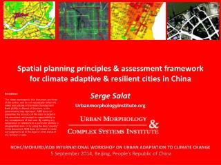 Serge Salat Urbanmorphologyinstitute