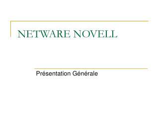 NETWARE NOVELL