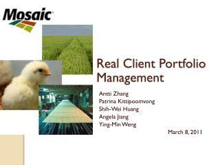 Real Client Portfolio Management