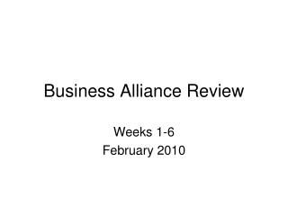 Business Alliance Review