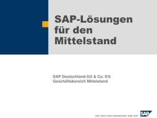 SAP-Lösungen  für den Mittelstand
