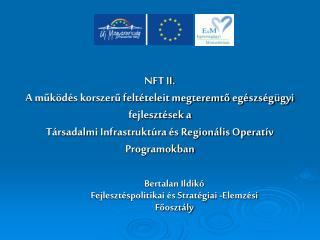 Bertalan Ildikó Fejlesztéspolitikai és Stratégiai -Elemzési Főosztály