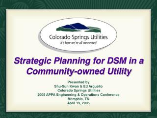 Strategic Planning for DSM in a Community-owned Utility