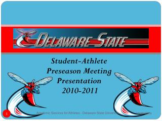 Student-Athlete Preseason Meeting  Presentation  2010-2011