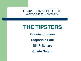 IT 7420 - FINAL PROJECT  Wayne State University