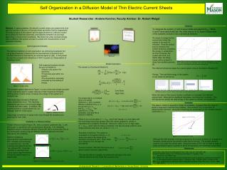Self Organization in a Diffusion Model of Thin Electric Current Sheets