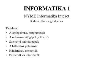 INFORMATIKA 1