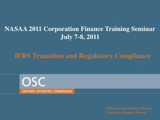 IFRS Transition and Regulatory Compliance