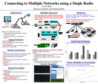 Connecting to Multiple Networks using a Single Radio