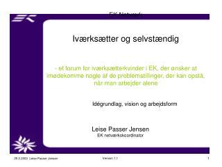 Leise Passer Jensen EK netværkskoordinator