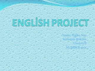 ENGLİSH PROJECT