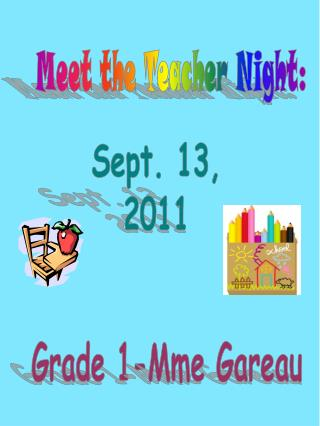 Meet the Teacher Night:
