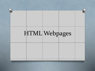 HTML Webpages