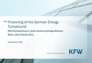 Financing of the German Energy Turnaround
