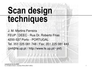 Scan design techniques