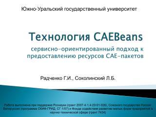 Технология CAEBeans