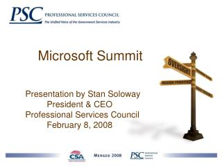 Microsoft Summit      Presentation by Stan Soloway               President & CEO