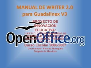 MANUAL DE WRITER 2.0 para Guadalinex V3