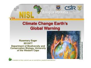 Climate Change Earth's  Global Warning