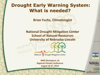 Drought Early Warning System: What is needed?