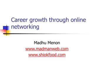 Career growth through online networking