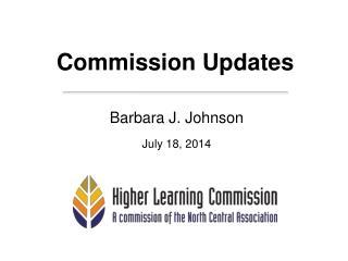 Commission Updates