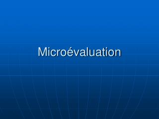 Micro�valuation
