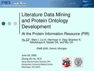 Literature Data Mining and Protein Ontology Development