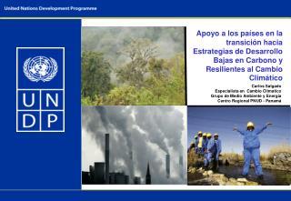 Carlos Salgado Especialista en  Cambio Climatico Grupo de Medio Ambiente y Energía