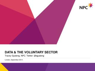 Data & the voluntary sector